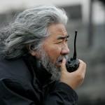man with graying hair