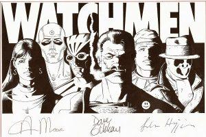 black and white original cover art