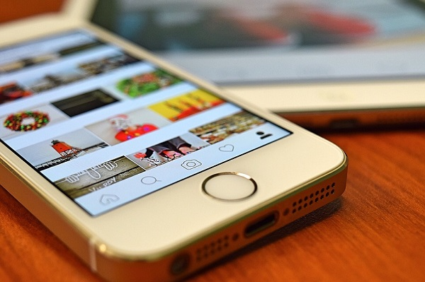 Instagram app opened on an iPhone
