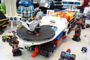 Dozens of intricate Lego toys