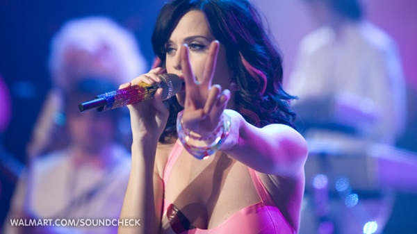 Katy Perry during concert