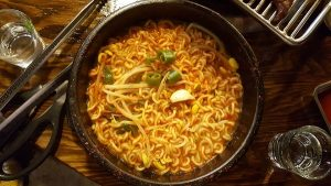 Bowl of instant noodles