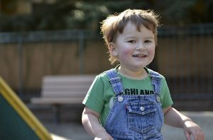 Boy with Autism on the Playground
