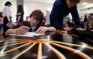 U.S. job seekers filling in questionnaires