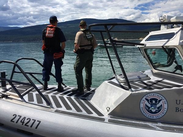 U.S. Border Patrol Agents surveying border