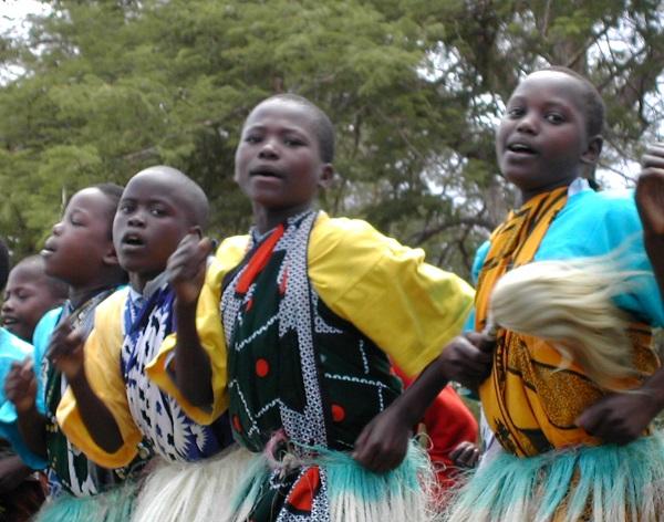 Kenyan girls dancing