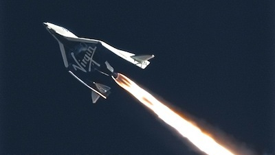 SpaceShipTwo Second  Powered Flight PF03 January 10, 2014