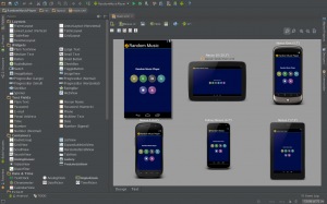 Multiple device preview of Android Studio.