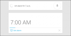 Google Now Alarm option