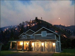 A Hundred Homes destroyed by Washington Wildfire