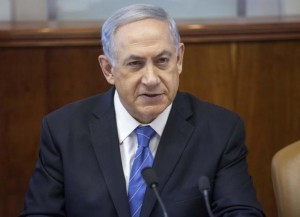 Israel's Prime Minister Netanyahu attends the weekly cabinet meeting in Jerusalem