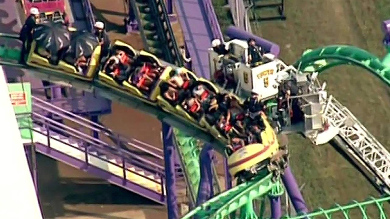 Two dozen people rescued from a maryland roller coaster for Linear induction motor roller coaster