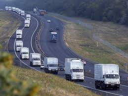 Russian Aid Convoy Crosses Border into Ukraine