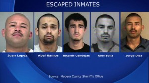 Police on the Hunt for Five California Inmates