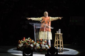 19,000 People Cheer for Indian Prime Minister Narendra Modi