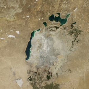 Satellite Images Show How the Aral Sea Dried Up