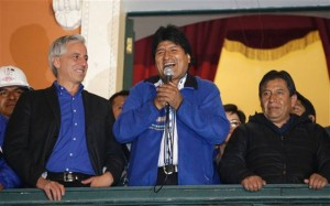 Bolivian President Evo Morales Wins Third Term