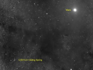 Comet Flies by Mars in Once-in-a-Lifetime Event