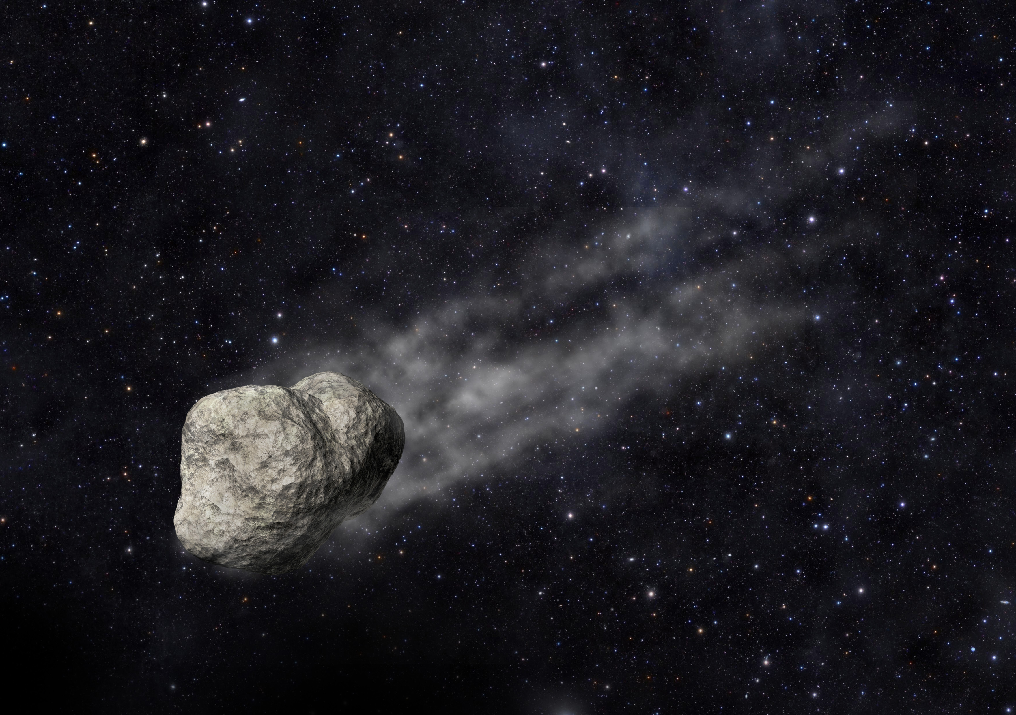 Asteroid with Comet-like Tail from Hygiea Family Discovered