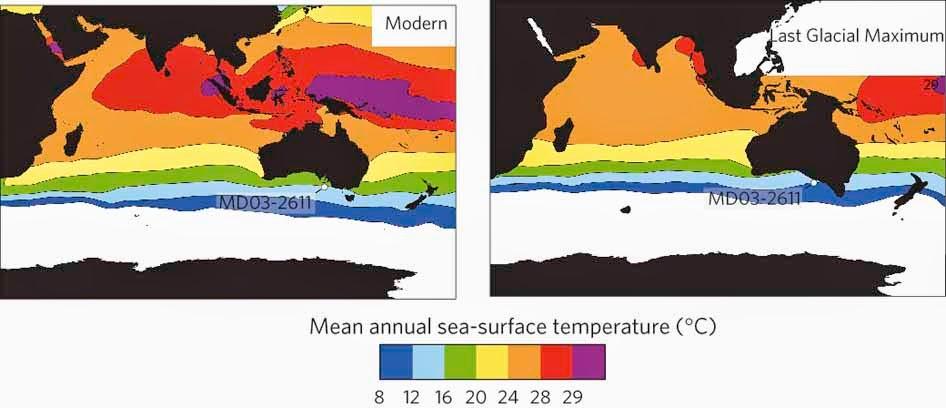 warmest oceans