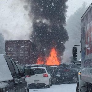Massive Pileup on I-93 in New Hampshire; 12 Injured, One Critical