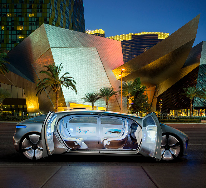 Mercedes Shows Off Self-Driving Luxury Car at CES Electronics Show