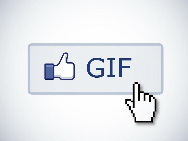 Image result for facebook gif button