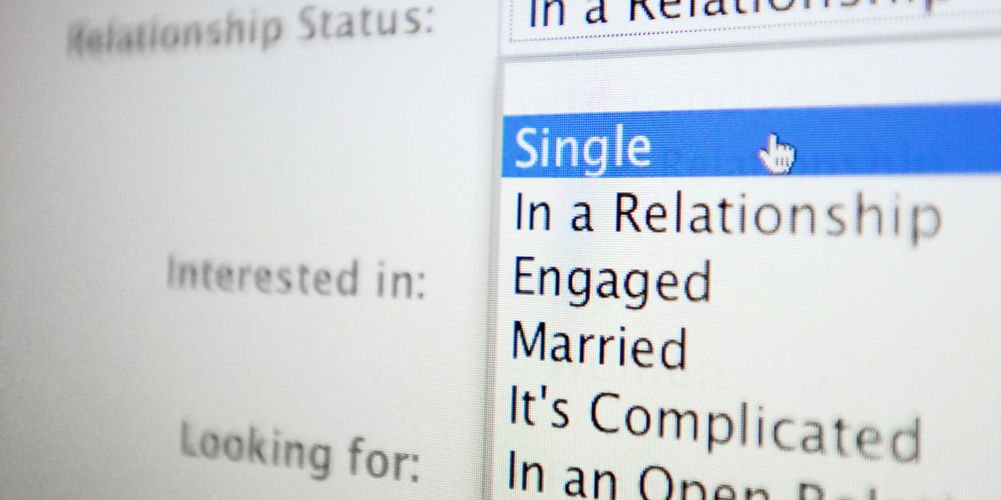 Dating status for fb