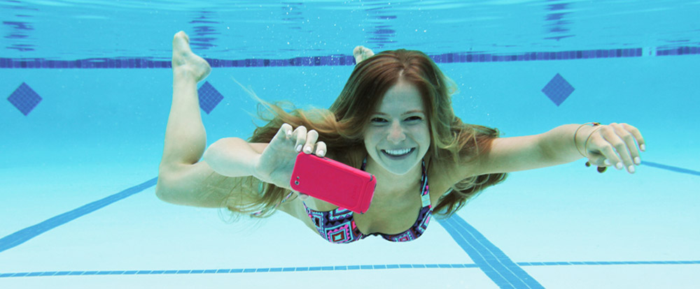 "alt=""Woman Dives with Waterproof iPhone"""