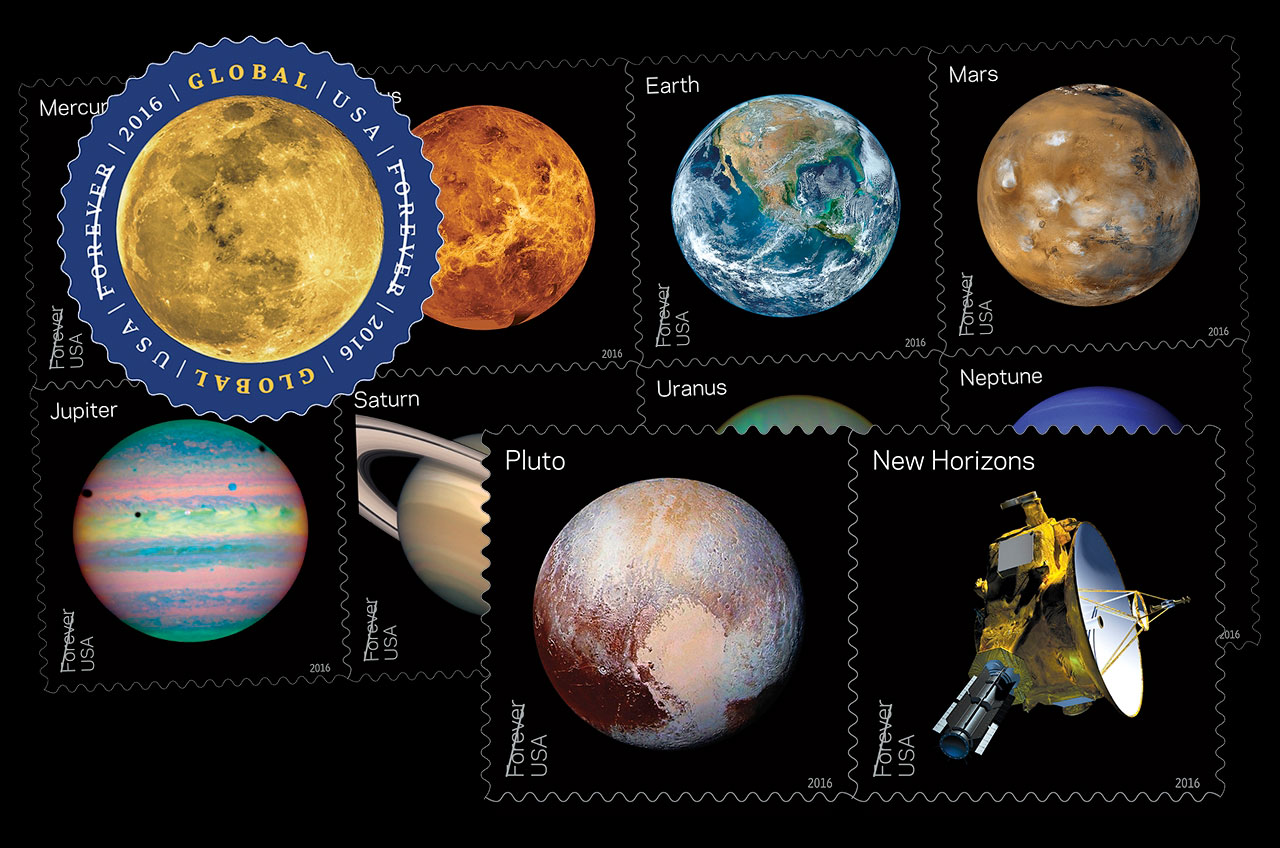 planets postage us postal service issues new solar system - HD 1280×848