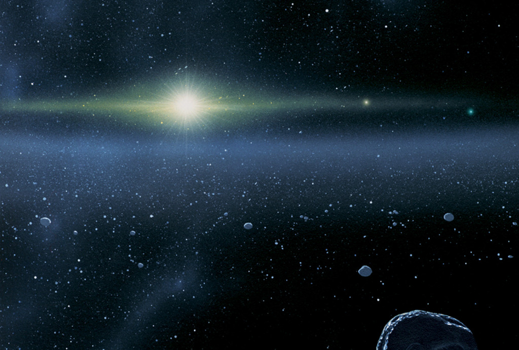 Artistic representation of the Kuiper Belt