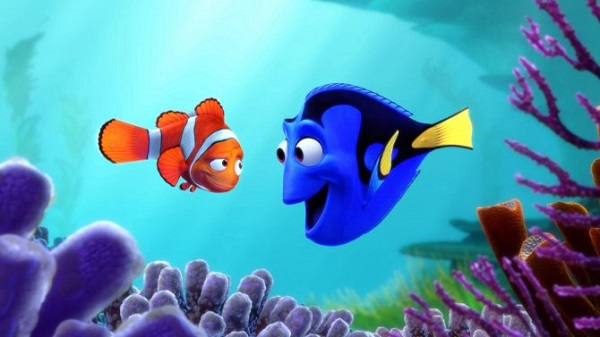 Finding Nemo clownfish and blue tang