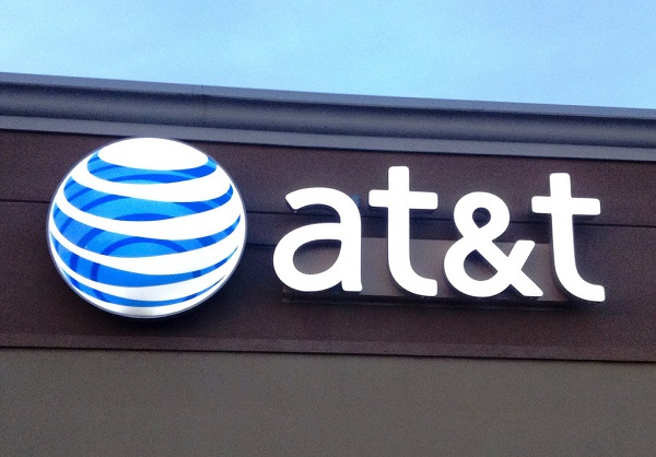 AT&T logo outside a building