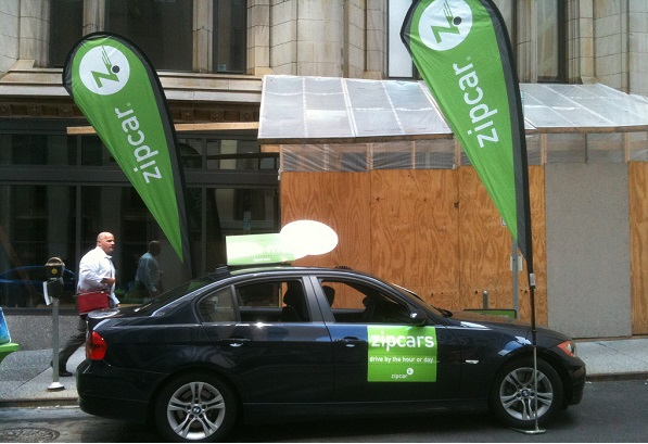 zipcar vehicle parked