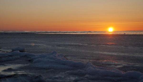 Bering Sea sunrise