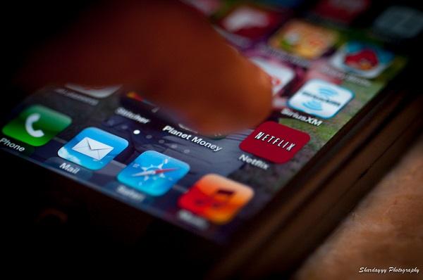 Netflix app on a phone