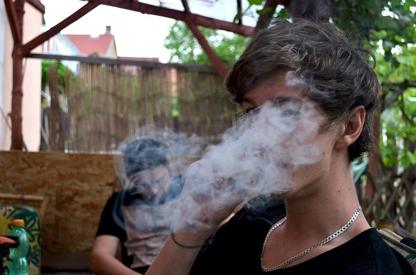 teenager smoking weed