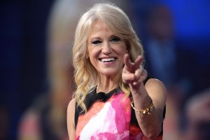 Kellyanne Conway smiling to the camera