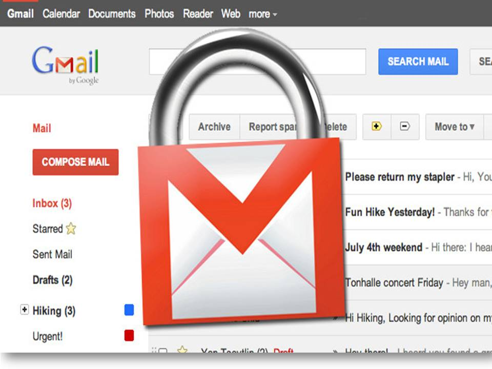 Gmail and video attachments.