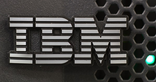 IBM logo on a wall
