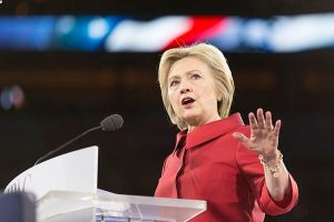 hillary clinton speaking at an event