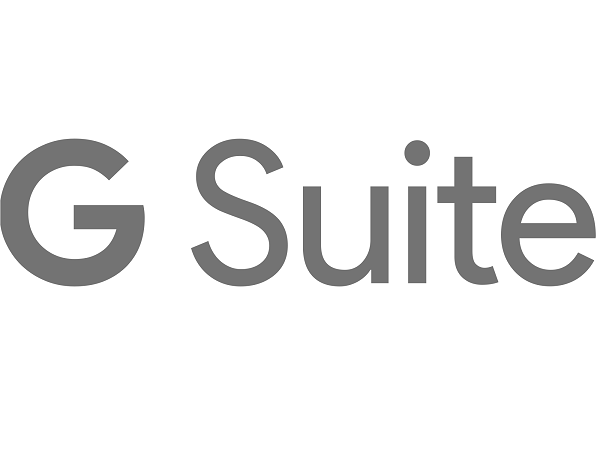 g suite logo in grey on white