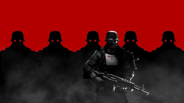 Wolfenstein wallpaper with six Nazi soldiers