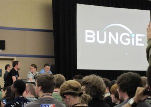 Bungie logo on a screen at PAX 2009