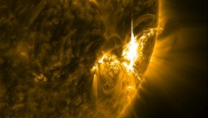 Massive solar flare as seen by NASA