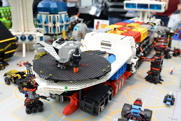 Dozens of intricate Lego toys