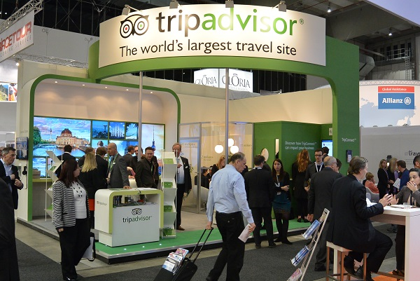 TripAdvisor booth at 2014 ITB Berlin