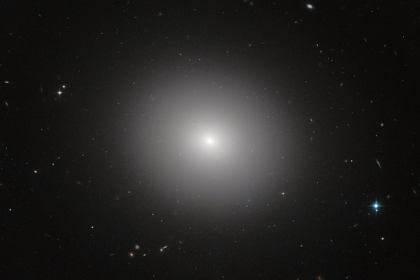 very bright galaxy in the universe and the image center