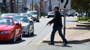 Blind Man Crossing the Street