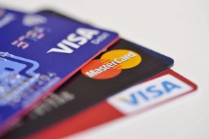 Three debit cards